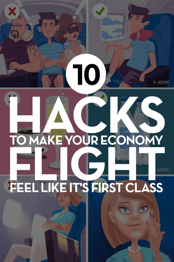 10 hacks to make your economy flight feel like its first
